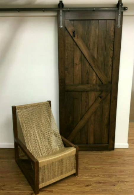 Cherry barn style British Brace door with stained finish - (hardware and chair NOT included)