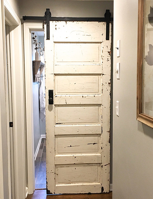 Installed Barn Door Hardware