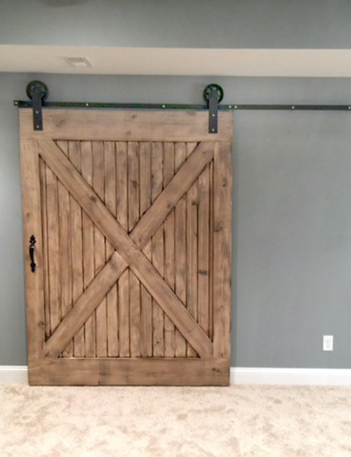 Jumbo wheel sliding barn door hardware kit for Custom barn door kits