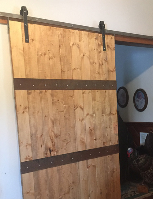 Sliding Barn Door Installed