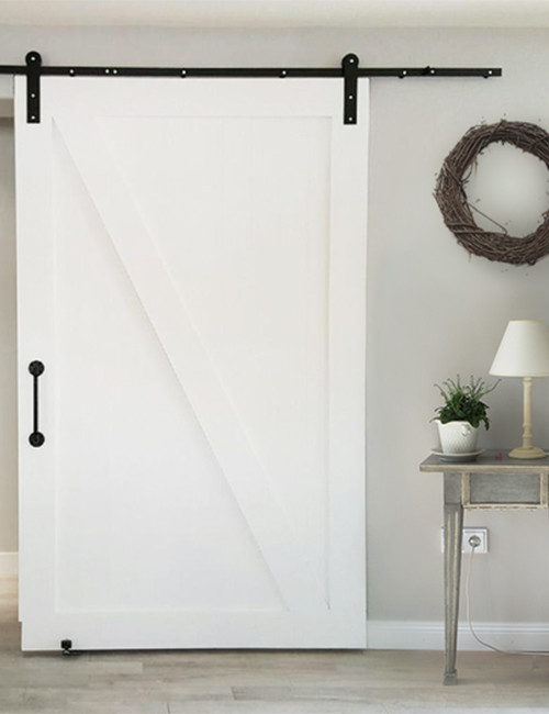 Standard Barn Door Hardware Installed