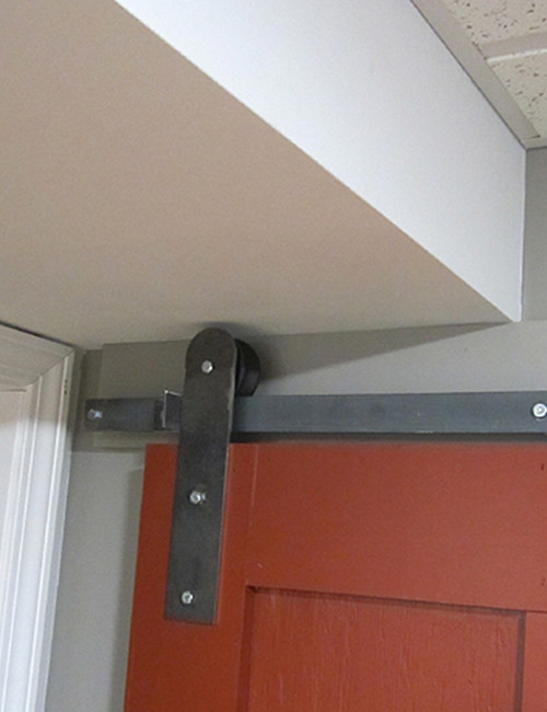 Installed Sliding Barn Door Hardware
