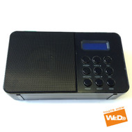Black Portable DAB/FM Digital Clock Display Radio