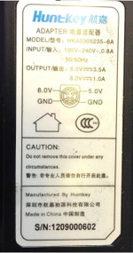 HuntKey HKA0305235-6A Power Supply AC Adapter 5V 3.5A 8V 1A 4 PIN
