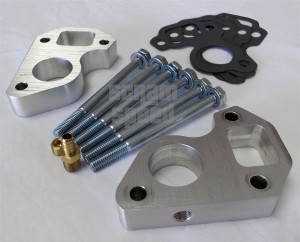 LSx Billet Water Pump Spacers for LS1 Camaro/Truck and LS3 Vette/LS1 Swap