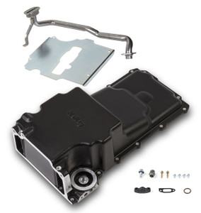 GM LS Retro-fit Oil Pan - Carbon Black Ceramic - additional front clearance