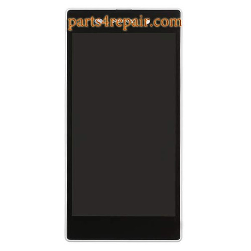 Complete Screen Assembly with Bezel for Sony Xperia Z1 from www.parts4repair.com