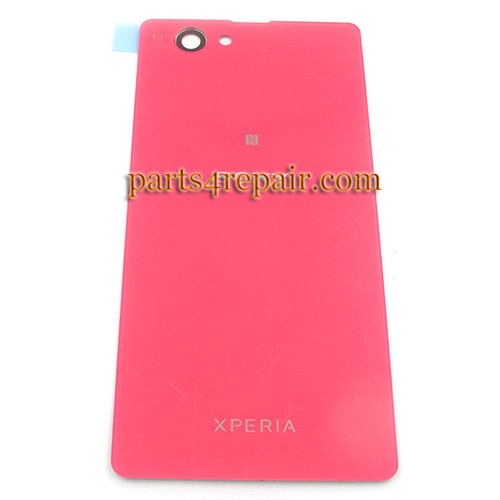 Back Cover OEM for Sony Xperia Z1 Compact mini -Pink (Glass)