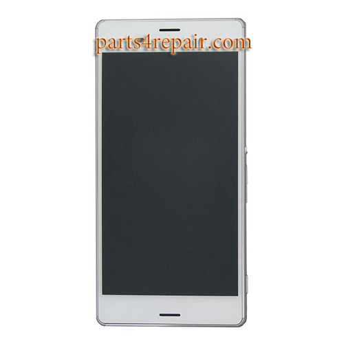Complete Screen Assembly with Bezel for Sony Xperia Z3 Dual D6633 -White