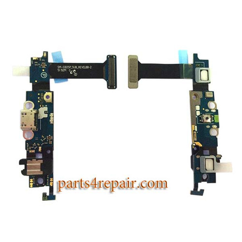 Dock Charging Flex Cable for Samsung Galaxy S6 Edge G925P from www.parts4repair.com