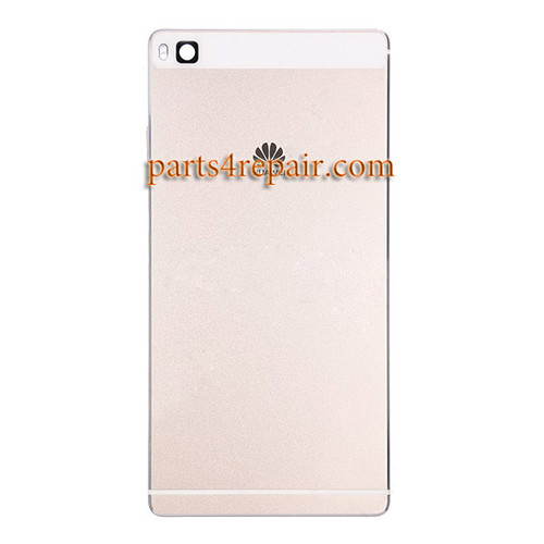 Back Cover with Side keys for Huawei P8 -Gold