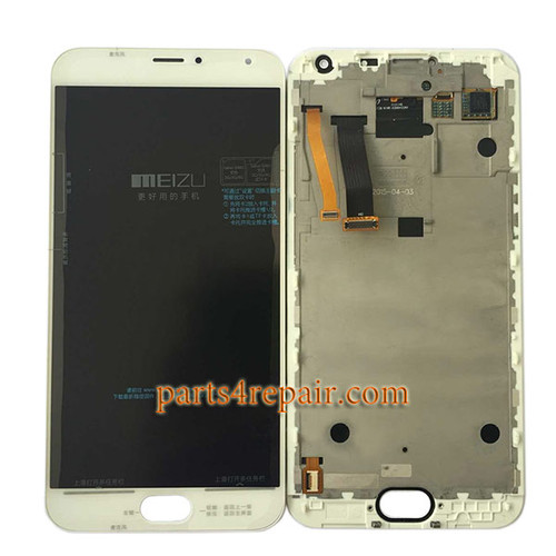 Complete Screen Assembly with Bezel for Meizu MX5 -White