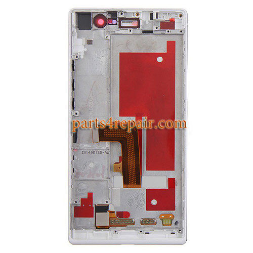 Complete Screen Assembly with Bezel for Huawei Ascend P7 -White