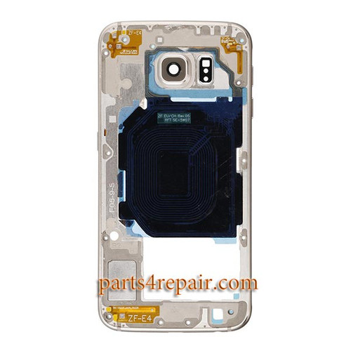 Middle Housing Cover for Samsung Galaxy S6 Edge G925F -Gold