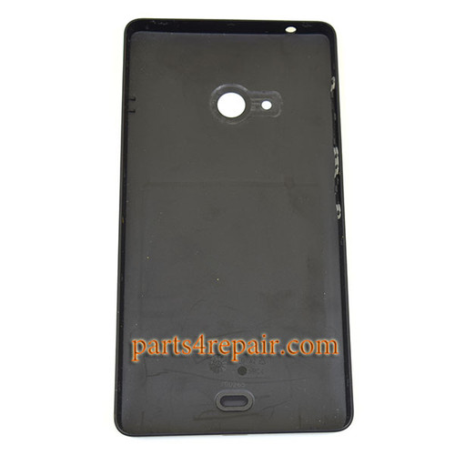 Back Cover with Side Keys for Microsoft Lumia 540 Dual SIM -Black
