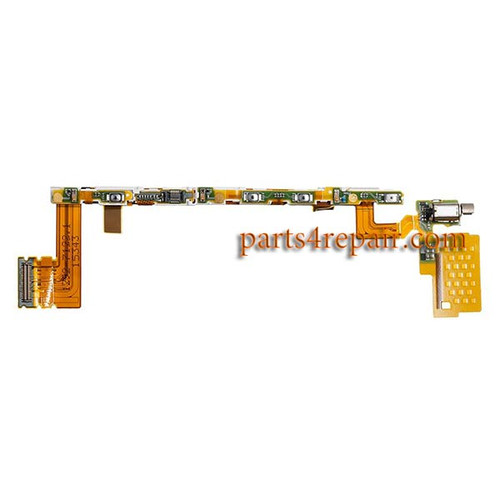 Sony Xperia Z5 Side Key Flex Cable with Vibrator from www.parts4repair.com