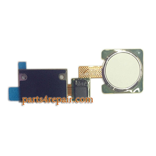 Fingerprint Button Flex Cable for LG V10 H900 H901 VS990 -White