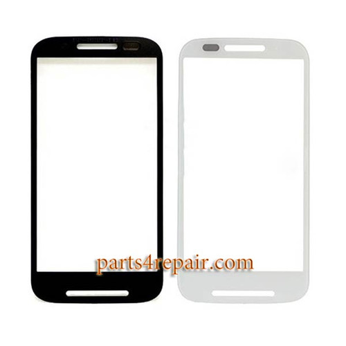 Front Glass for Motorola Moto E XT1021 -White from www.parts4repair.com