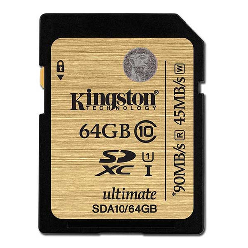 Kingston 64GB SDXC Memory Card 90MB/S Read 45MB/S Write UHS-I Flash Card