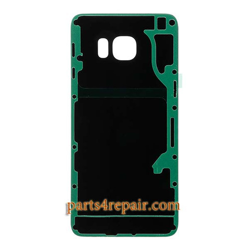 Back Cover with Adhesive for Samsung Galaxy S6 Edge + All Versions -Sapphire