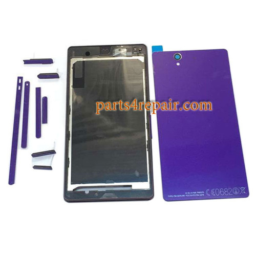 Full Housing Cover OEM for Sony Xperia Z L36H -Purple