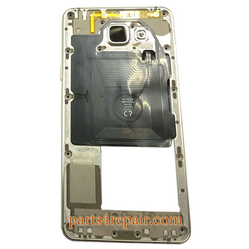 Middle Housing with Side Keys for Samsung Galaxy A5 (2016) A510F -Gold