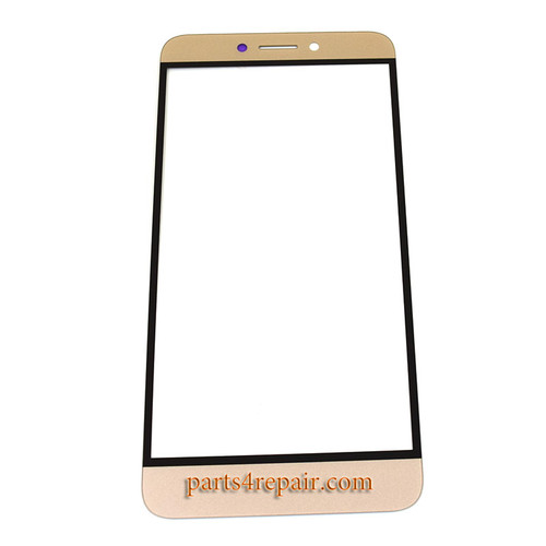 Front Glass with Keypad Light Flex Cable for Letv Le 1s X500 8 pin -Gold