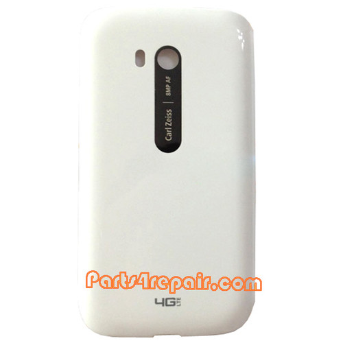 Back Cover without Wireless Charging Coil for Nokia Lumia 822 -White