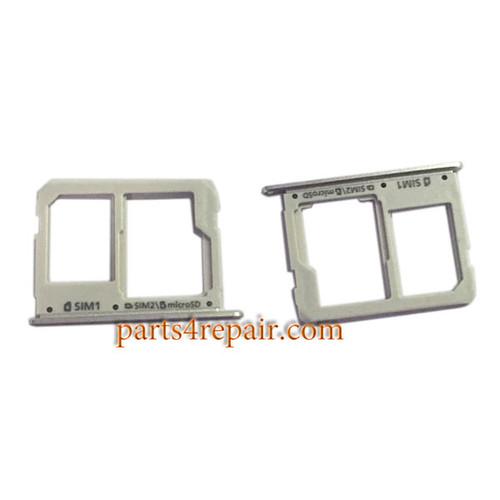 Dual SIM Tray for Samsung Galaxy A3100 A5100 A7100 -White