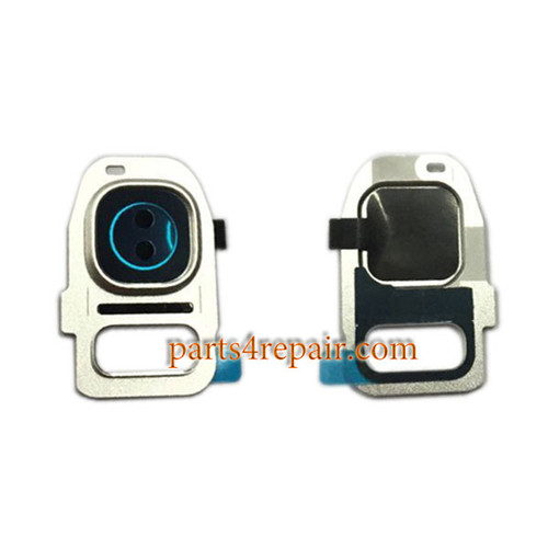 Camera Cover & Camera Lens for Samsung Galaxy S7 All Versions -White