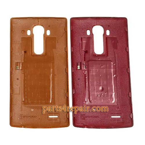 Back Cover OEM with NFC for LG G4 -Leather Red