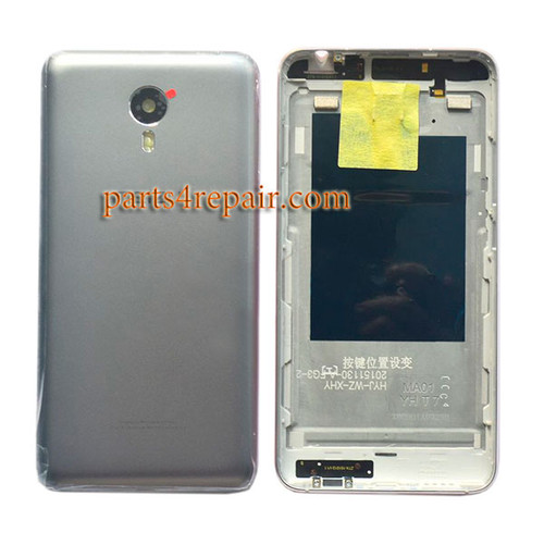 Back Housing Cover with Side Keys for Meizu M1 Metal (Meizu Blue Charm Metal) -Grey