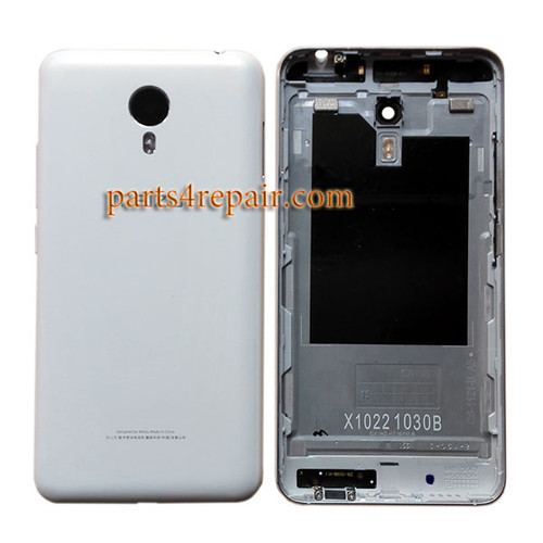Back Housing Cover with Side Keys for Meizu M1 Metal (Meizu Blue Charm Metal) -White
