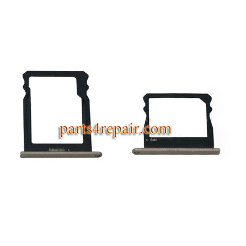 A Pair of SIM Trays for Huawei Honor 7i -Gold