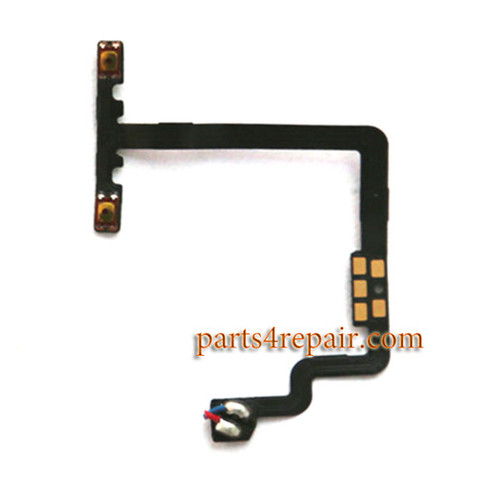 Volume Flex Cable for Oppo R9 Plus from www.parts4repair.com