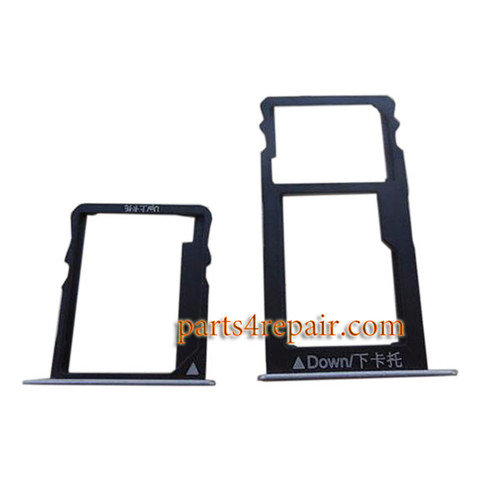 A Pair SIM Trays for Huawei Honor 5X -Silver