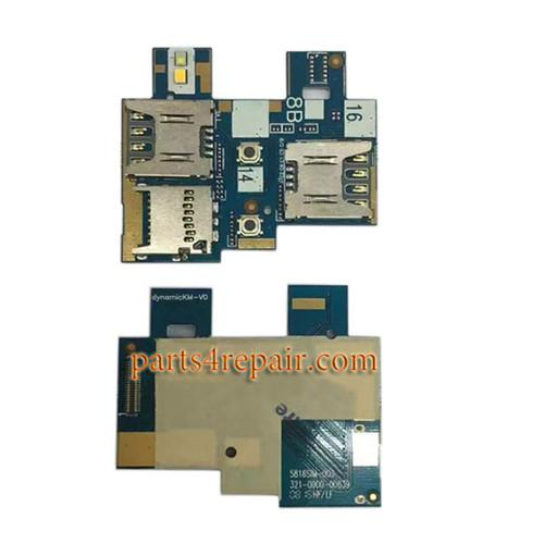 SIM Connector Flex Cable for Asus Zenfone Go ZB551KL