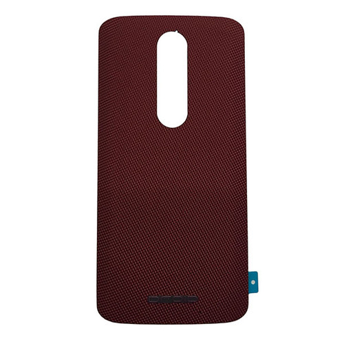 "Back Cover with ""DROID"" logo for Motorola Droid Turbo 2 -Red (Nylon)"