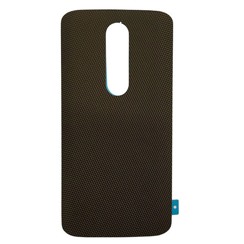 "Back Cover without ""DROID"" logo for Motorola Droid Turbo 2 -Brown (Nylon)"