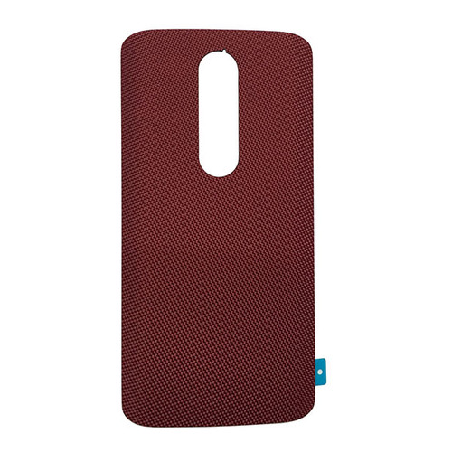 "Back Cover without ""DROID"" logo for Motorola Droid Turbo 2 -Red (Nylon)"