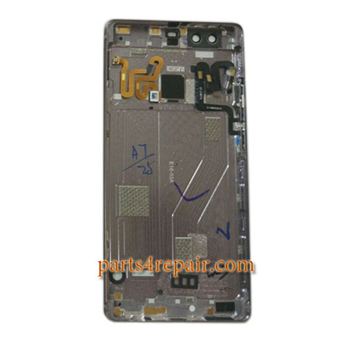 Rear Housing Cover with Fingerprint Sensor Flex Cable for Huawei P9 Plus