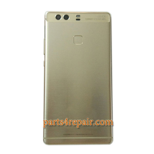 Back Housing Cover with Fingerprint Sensor Flex Cable for Huawei P9 Plus -Gold