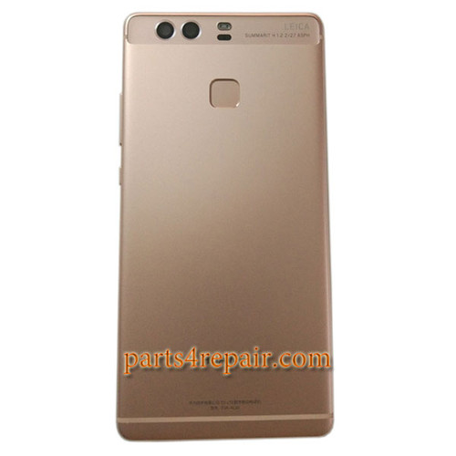 Back Housing Cover with Fingerprint Sensor Flex Cable for Huawei P9 Plus -Rose Gold