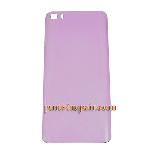 Back Glass Cover with Buckle for Xiaomi Mi 5 -Pink