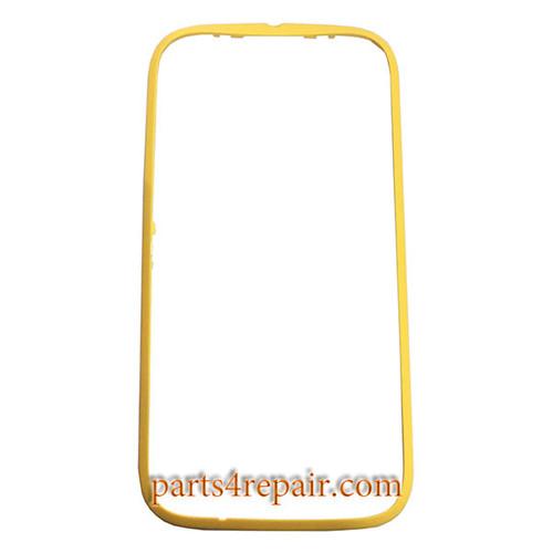 Front Bezel with Side Keys for Motorola Moto E (2nd Gen) -Yellow
