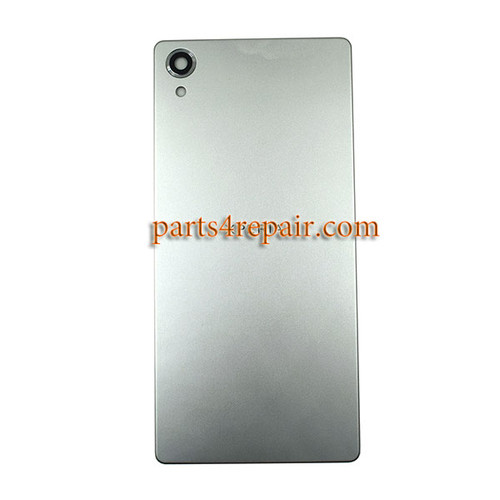 Back Cover for Sony Xperia X -Silver