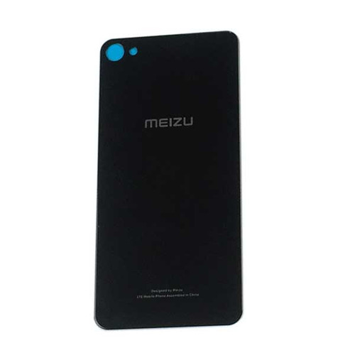 Back Glass Cover with Adhesive for Meizu U20 -Black