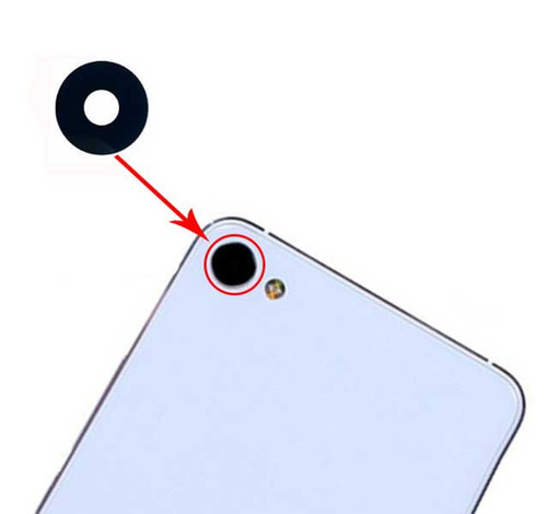 Camera Glass Lens with Adhesive for Meizu U10