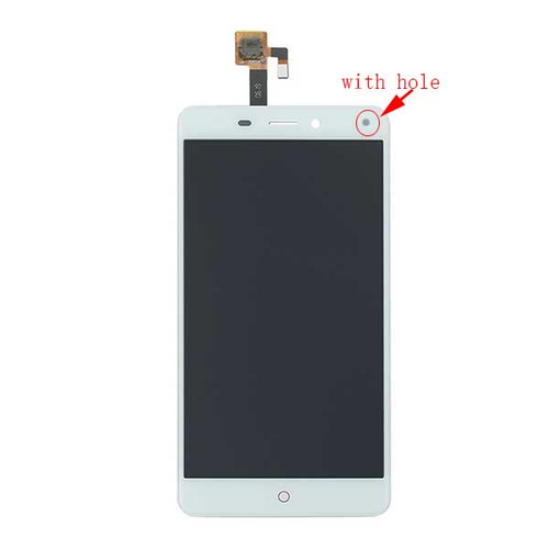 Complete Screen Assembly for ZTE Nubia N1 NX541J (with hole) -White