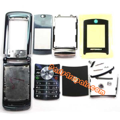 Motorola RAZR2 V8 Full Housing Cover (Blue) from www.parts4repair.com
